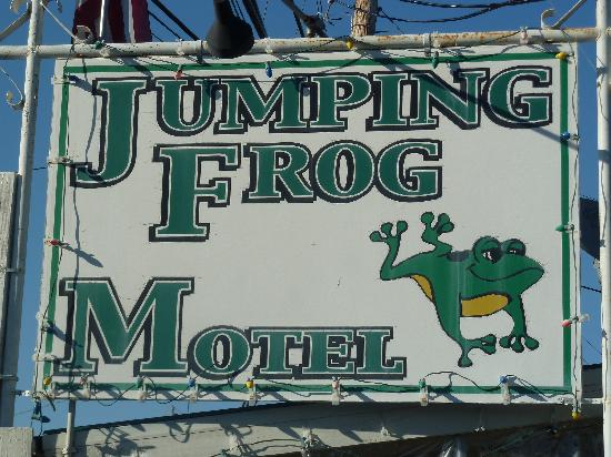 Jumping Frog Motel: motel sign