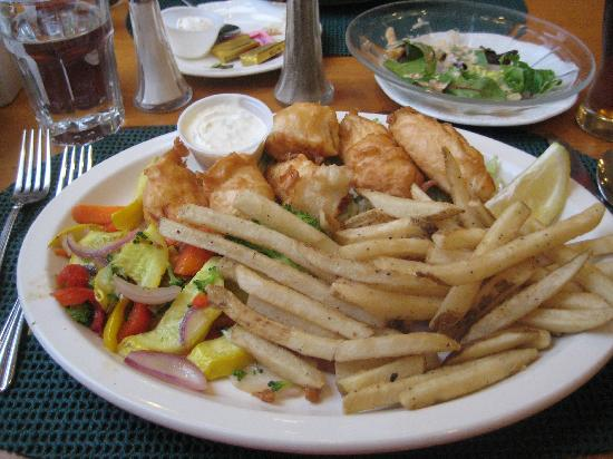 Best Western Grandma'S Feather Bed: Beer Battered Halibut--Delicious!