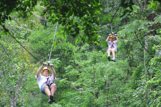 Nogalito Eco Park: Twin zip lines for racing