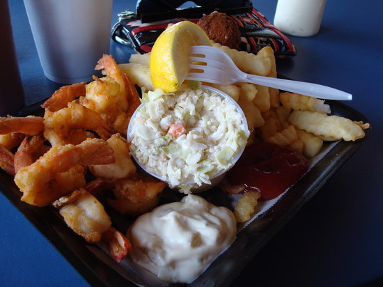 Singleton's Seafood Shack: the lunch shrimp basket