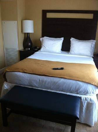 Holiday Inn Express Savannah-Historic District: comfy bed -- queen size