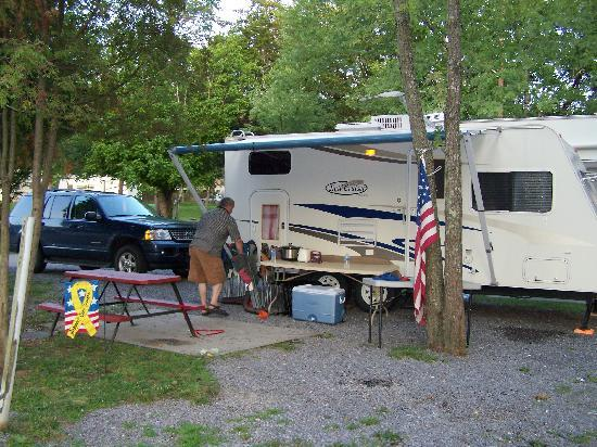 Clabough's Campground: Our campsite, there were lots of trees all over. Huge bonus!