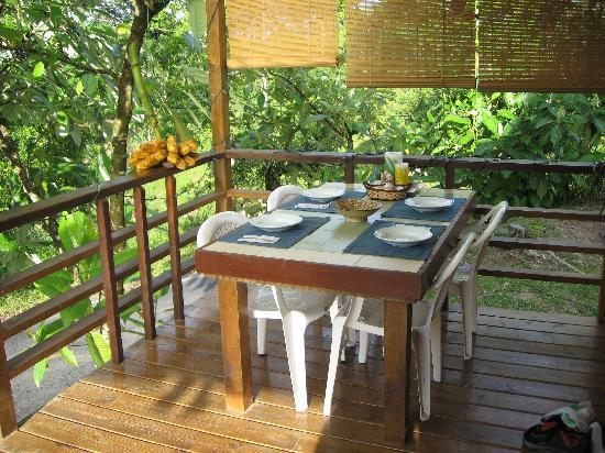 Island Path Panama : The breakfast table
