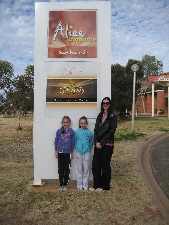 Out the front of 'Alice in the Territory""