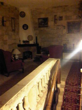 Ta' Bertu: inside, upstairs, just outside our room