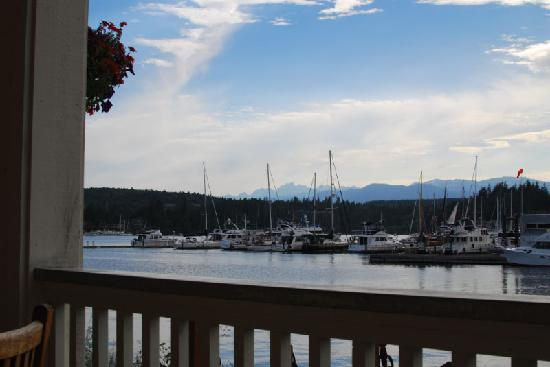 The Resort at Port Ludlow: View of the marina from the restaurant