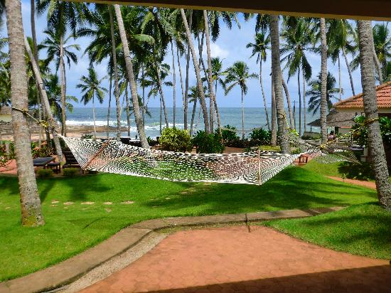 Coconut Bay Beach Resort: The hammock in front of my bungalow