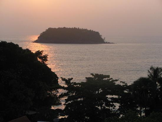 Chanalai Garden Resort: Sunset from Room at Tropical Garden Resort
