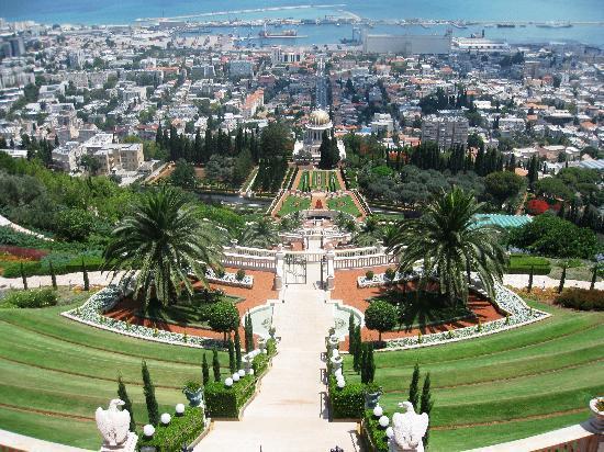 Jardines de Baha'i y Domo Dorado: The view from the top