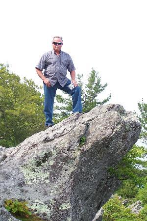"The Blowing Rock: My ""prince"" on the Rock."