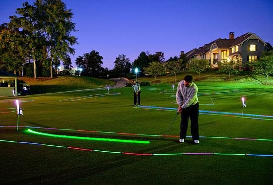 Glow In The Dark Putting At The Golf Club At Ballantyne Charlotte Nc