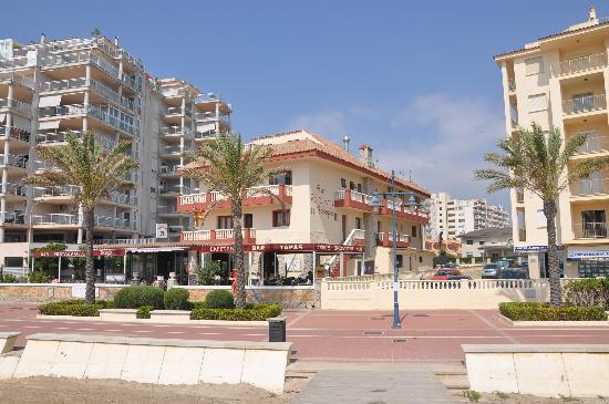 Hotel Bodegon: Vista desde la playa