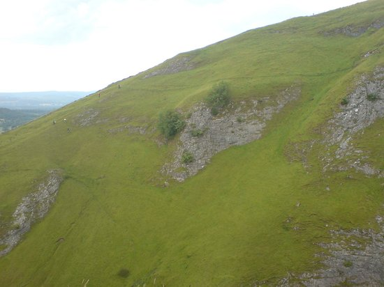 Peveril Castle: View from Peveril