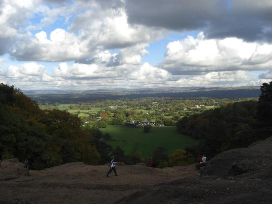 Alderley Edge, UK : view from Stormy Point