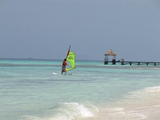 Grand Sunset Princess All Suites Resort : My 16 yr old son wind surfing (free)