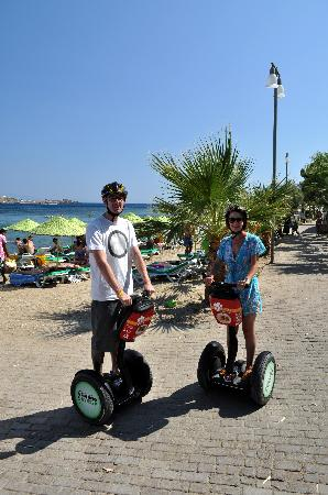 Aegean Gingers Segway Tours: On the beach