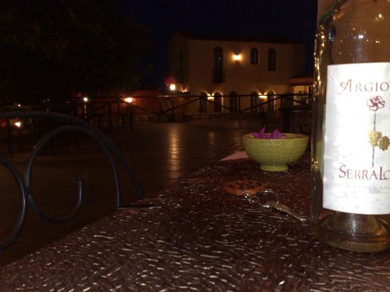 La Corte Rosada: cena nel patio
