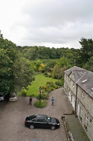 Kilbrogan House: View of parking and garden from top floor