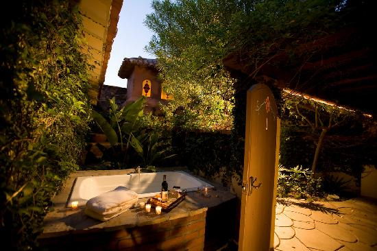 The Andalusian Court: Villa 1 private courtyard with outdoor spa tub