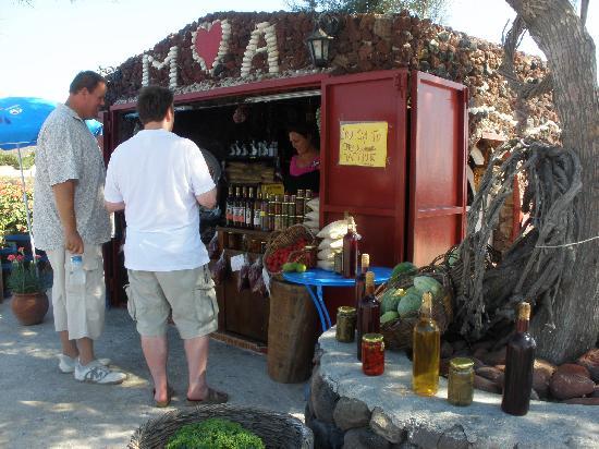 Santorini Photo Day Tours : Roadside stand featured on Giada