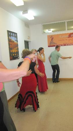 Taller Flamenco: Almost the last day of the lessons :(