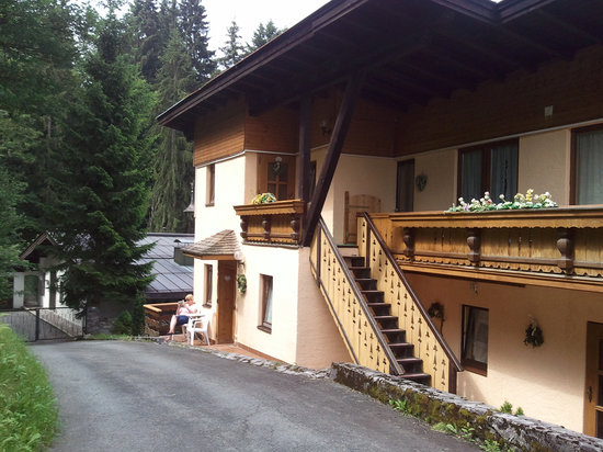 Hotel Sonnleiten: Back of appartments showing forest