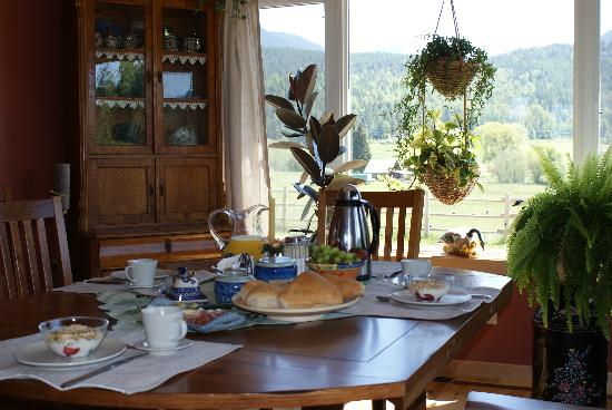 Brouse Creek B&B: Breakfast table