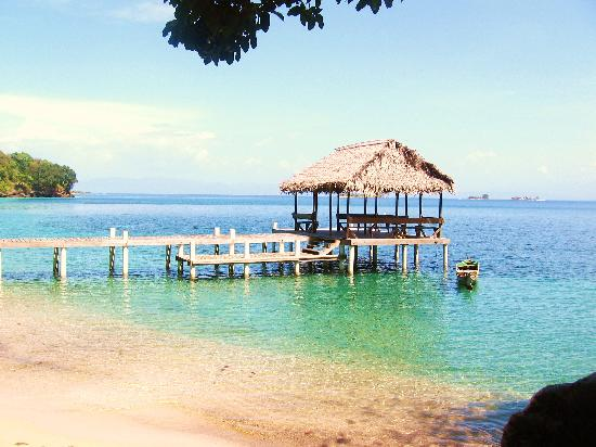 Bay Islands, Honduras: A very secluded bay just a short walk or swim from the PBR. beach.