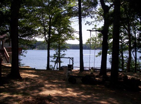 Windjammer On The Lake: View from Cabin #5 patio