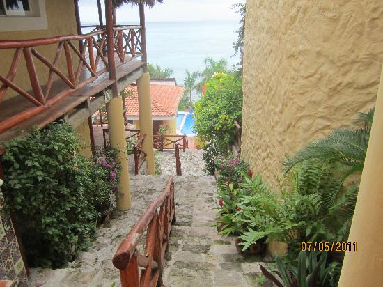 Hotel La Joya: From the top of the stairs looking down