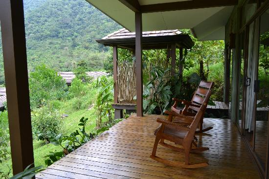 El Silencio Lodge & Spa: My favorite - the porch