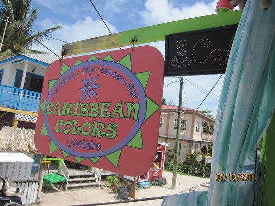 Caribbean Colors Art Cafe : sign