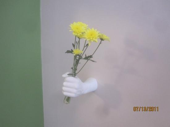 The Circus Hotel: The flower holder in our room