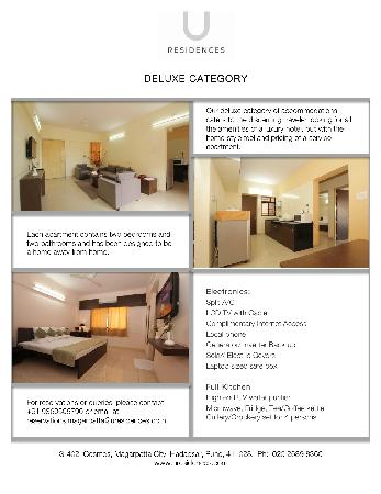 U Residences Magarpatta City : Deluxe Category