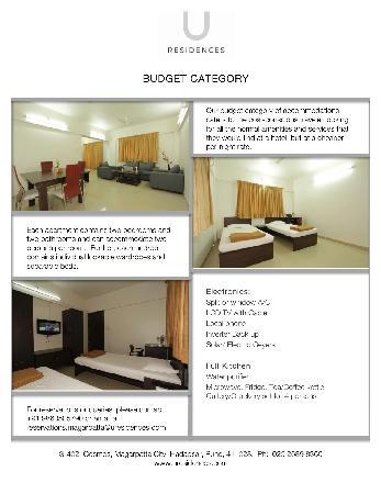 U Residences Magarpatta City : Budget Category