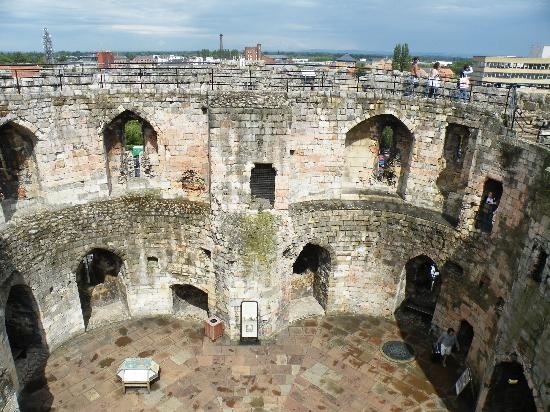 Clifford's Tower: View looking down into Cliffords Tower