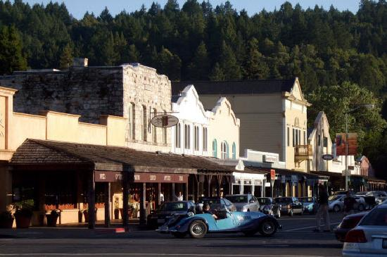 Calistoga's distinctive downtown storefronts on Lincoln Avenue