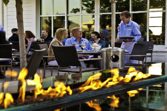 Patio dining at Solbar, Calistoga's Michelin-starred restaurant
