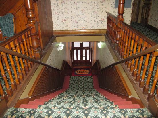 Bullock Hotel: looking down the stairs...