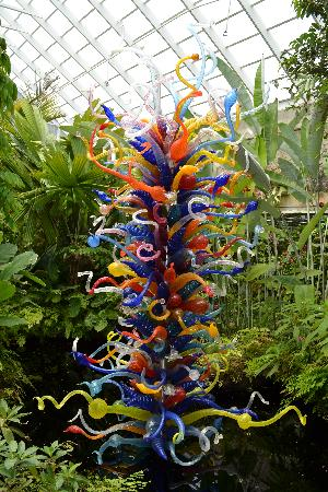 Fairchild Tropical Botanic Garden: The glass sculpture in one of the buildings