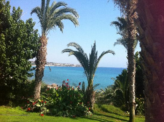 Ascos Coral Beach Hotel: View across bay