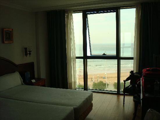 Hotel Principe de Asturias: view of our room and the big windows