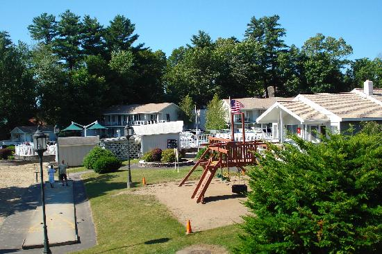 Marine Village Resort: View of play ground and shuffleboard from our room