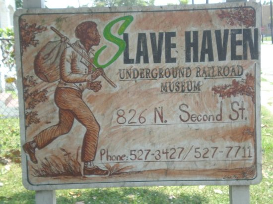 Slave Haven / Burkle Estate Museum: marker