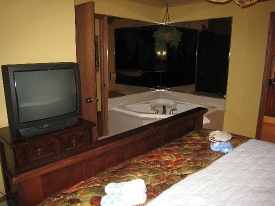 Wild Eagle Lodge: Bedroom with jacuzzi tub