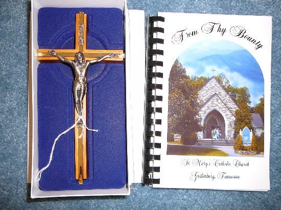 St Mary's Catholic Church : Cross & Cookbook from St. Mary's Catholic Church Gift Shop in Gatlinburg