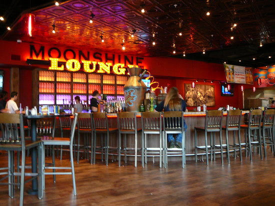 Moonshine Lounge at Mellow Mushroom Gatlinburg