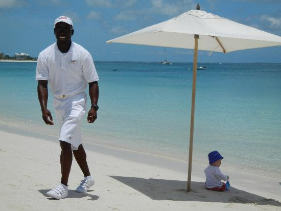 Grace Bay Club: Our personal helper, helping out our little prince
