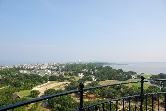 Currituck Beach Lighthouse: A view from the top of Currituck.