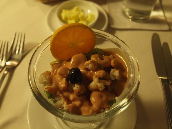 Club Villa Restaurant: シュリンプサラダ